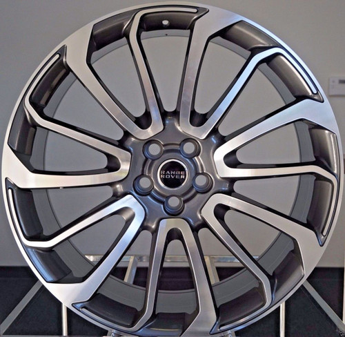 "22"" Fits Range Rover Autobiography Wheels HSE Sport Land Rover Machined Gunmetal Rims Set of 4 22x9.5"""