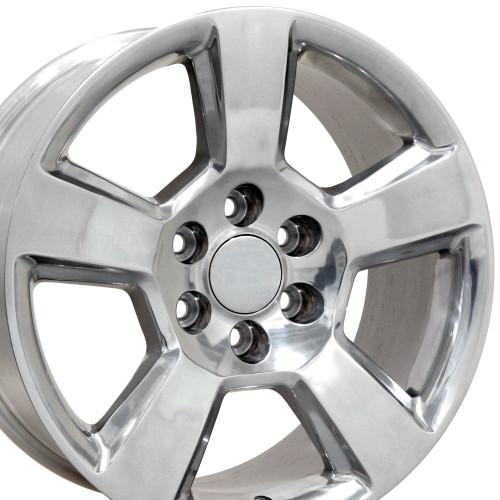 "20"" Fits Chevy Tahoe Wheels GMC Cadillac Silverado Sierra Yukon Set of 4 Polished 20x9"" Rims Hollander 5652"