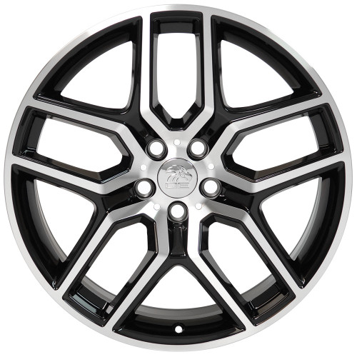 "20"" Fits Ford Explorer Wheels Black Machined Face Set of 4 20x9"" Rims"