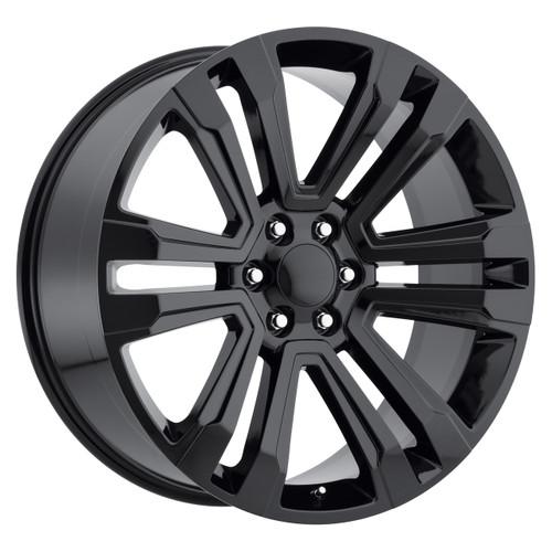 "22"" New 2018 Fits GMC Denali Chevy Wheels 1500 Gloss Black Set of 4 22x9"" Rims"