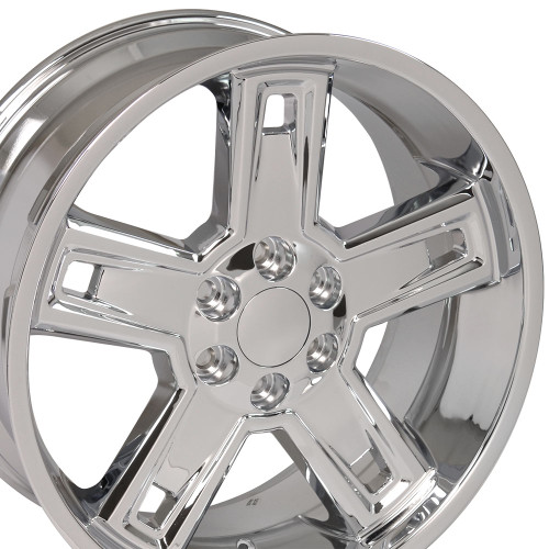 "22"" Fits Chevrolet 2015 Silverado Tahoe CK160 Wheels GMC Deep Dish Chrome Set of 4 22x9.5"" Rims  Hollander # 5664"