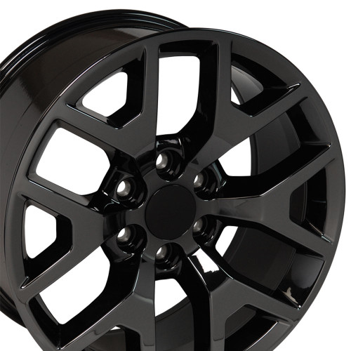 "20"" Fits Chevy 1500 GMC Sierra Wheels Silverado Rims PVD Black Chrome Set of 4 20x9  Hollander 5656"