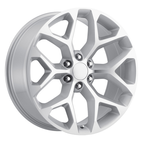 "22"" 2015 CK156 CK 156 Chevy Silverado GMC Sierra 1500 Cadillac Silver Machined  Wheels Rims Set of 4 22x9"