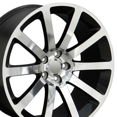 """20"""" Chrysler 300 SRT8 Charger Magnum Challenger Wheel Polished w/Black Inlay Set of 4 20x9"""" Hollander 2253"""