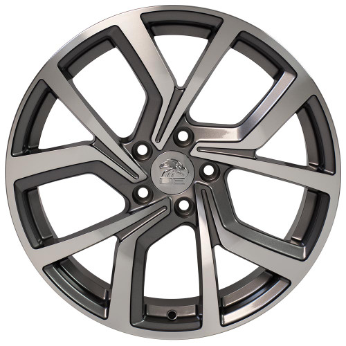 "18"" Fits Volkswagon GTI Golf Wheels Gunmetal with Machined Face 18x8"" Rims"