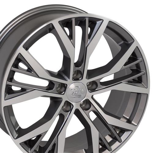 "18"" Fits Volkswagon GTI Golf Wheels Gunmetal Machined Face 18x8"" Rims"