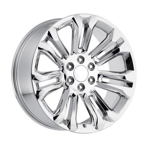 "24"" GMC 1500 Sierra Tahoe CK159 Chevy Silverado 2015 Chrome Wheels Set of 4 24x10"" Rims"