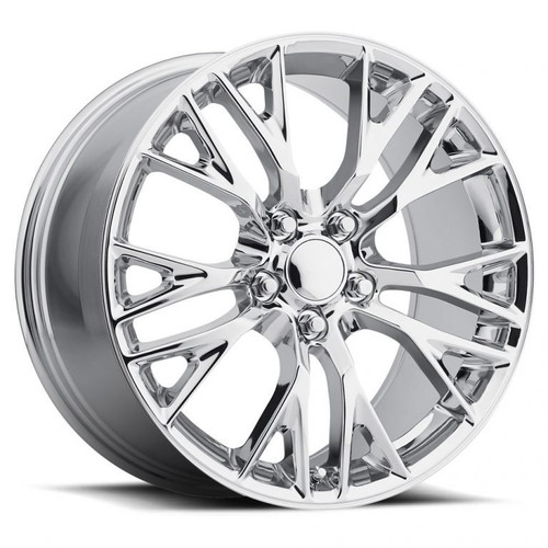 "17""/18"" Fits Corvette C7 Chrome Z06 Style Staggered Wheels Set of 4 17x8.5"" 18x9.5"" Rims"
