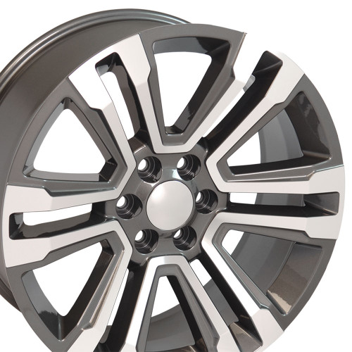 24 New 2018 Fits Gmc Denali Wheels Chevy 1500 Machined Silver Face