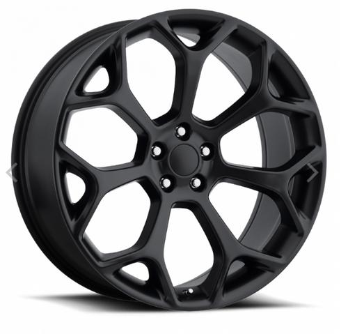 "22"" Fits Chrysler 300c Dodge Magnum Chargers Challengers Wheels Satin Black Set of 4 22x9"" Rims"