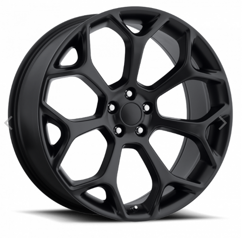 "22"" Fits Chrysler 300c Dodge Magnum Chargers Challengers Wheels Satin Black Set of 4 22x9"" Rims"