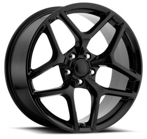 "20"" Fits Chevy Camaro Z28 Style Satin Black Staggered Wheels Set of 4 20x10/11"" Rims"
