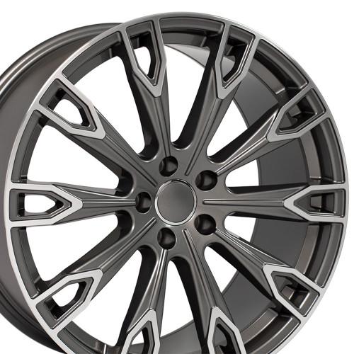 "20'' Fits Audi Q Series Q7 style Gunmetal Machined Face Wheels Set of 4 20x9"" Rims"