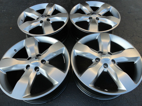 "20"" OEM Jeep Grand Cherokee Overland Summit Edit 9107 Wheel Hyper Silver Set of 4 20x8"""