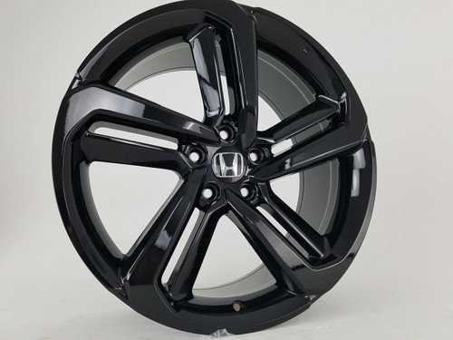 "19"" 2018-19 Fits Honda Accord Sport Civic Si EXL Acura Gloss Black Wheels Set of 4 19x8.5"" Rims"