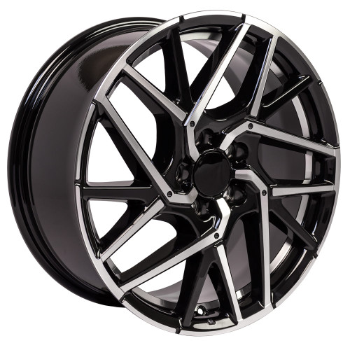 "18"" Fits Honda Civic Hatchback style Accord CR-Z Prelude Acura Undercut Black Machined Wheels Set of 4 18x8"" Rims"