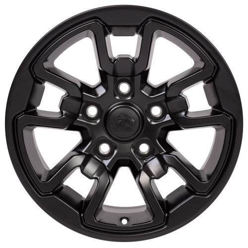 "17'' Fit's Dodge Ram 1500 Rebel Style Durango Dakota Chrysler Aspen Wheels Satin Black Set of 4 17x8"" Rims"