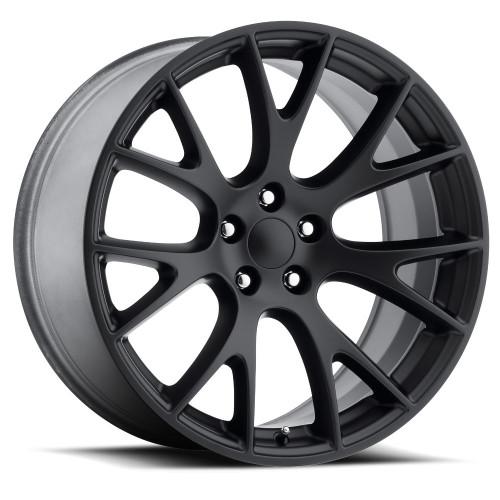 "20"" Hellcat Style Satin Black SRT Jeep Grand Cherokee Durango Dodge Wheels Rims Set 20x10"" Rims"