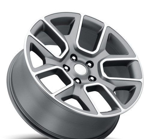 "22"" Fit's 2002 to 2018 Dodge Ram 1500 Ram Laramie Hemi Dakota Durango Wheels Gray Machined Face Set of 4 22x9"" Rims Hollander 96266"