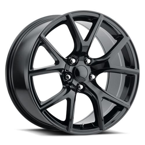 "20"" Fits Jeep Grand Cherokee Dodge Durango R/T SRT8 SRT Trackhawk Wheels Rims Gloss Black Set of 4 20x10"""