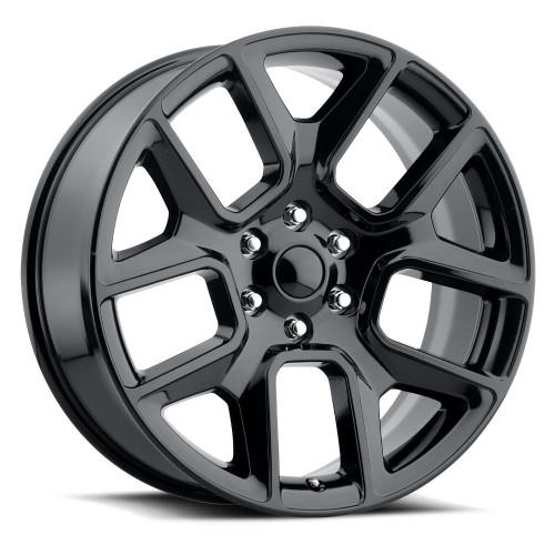 "22"" Fit's 2019 Dodge Ram 1500 Laramie Hemi  Wheels Gloss Black Set of 4 22x9"" Rims Hollander 96266"