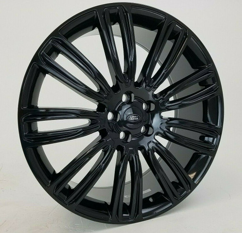 "22"" Fits Range Rover Wheels Dynamic Style Rims HSE Sport Land Rover Gloss Black Set of 4 22x9.5"""
