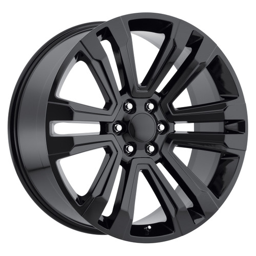 "24"" New 2018 Fits GMC Denali Chevy Wheels 1500 Gloss Black Set of 4 24x10"" Rims"