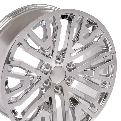 "22"" GM Mesh Fits 2019 Chevrolet Tahoe GMC Denali Sierra Escalade Wheels Chevy 1500 Chrome Set of 4 22x9"" Rims"