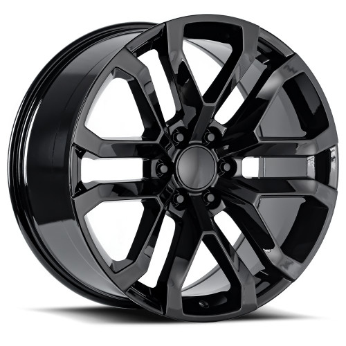 "22"" fit Chevy Silverado Gloss Black Wheels 1500 GMC Tahoe Suburban 2019 FITMENT Set of 4 22x9"" Rims"