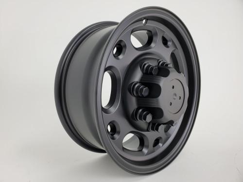 "Fits Chevrolet  Chevy 2500 Suburban Silverado Wheels Satin Black Set of 4 16x6.5"" Rims"