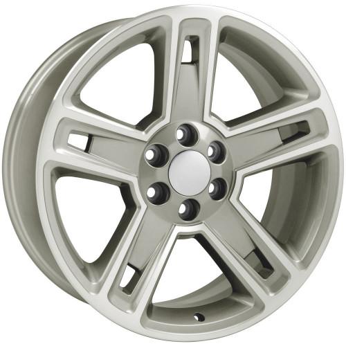 "22"" Fits Chevrolet 2015 Silverado Tahoe CK160 Wheels GMC Hyper Black Machined Face Set of 4 22x9"" Rims"