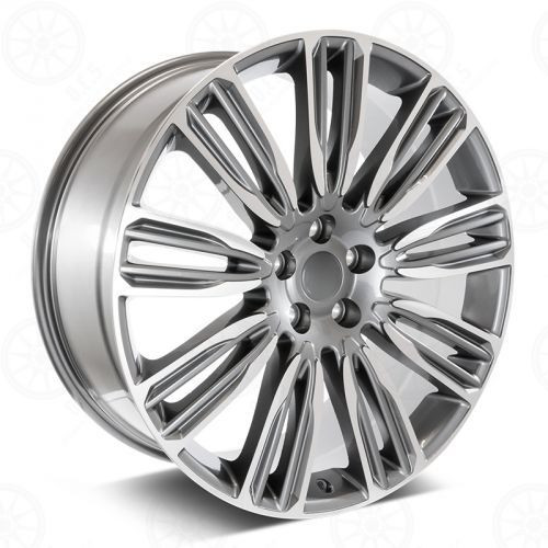 """22"""" Fits Range Rover Wheels Dynamic Style Rims HSE Sport Land Rover Gray Machined Face Set of 4 22x9.5"""""""