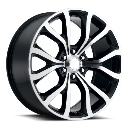 """22"""" Fits Ford Expedition Style F150 Wheels Black Machined Face Set of 4 22x9.5"""" Rims"""