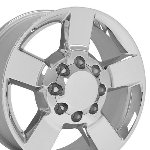 "2020 Style Fits Chevy 2500 3500 20"" GMC Chevrolet Silverado Sierra Chrome Wheel Set of 4 20x8.5"" Rims"