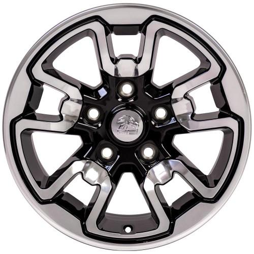 "17'' Fit's Dodge Ram 1500 Rebel Style Durango Dakota Chrysler Aspen Wheels Polished with Gloss Black Set of 4 17x8"" Rims"