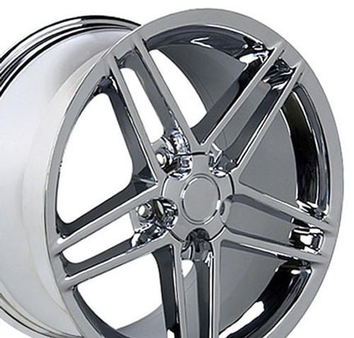 "17"" Fits Camaro Corvette C6 Z06 Wheel Chrome 17x9.5"" Rim OE Spec"