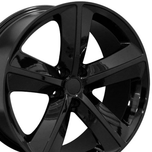 OE Wheels 20 Inch Fit Dodge Challenger Charger SRT8 Magnum Chrysler 300 SRT8 DG15 Hellcat Style Black 20x9 Rims Hollander 2528 Ironman iMove Gen2 Tires and TPMS SET