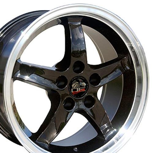 "17"" Fits Mustang® Cobra R Deep Dish Wheel Black 17x9"