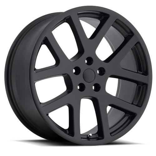 """20"""" Fits Dodge Challenger Charger 300 SRT Magnum Viper Wheels Satin Black Set of 4 20x9"""" Rims"""