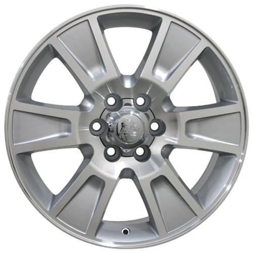 """20"""" Fits Ford F-150 Wheels Silver Machine Face Set of 4 20x8.5"""" Rims"""