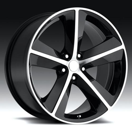 "20"" Fits Dodge Challenger Charger 300 SRT Wheels Satin Black Machined Face Set of 4 20x9"" Rims"