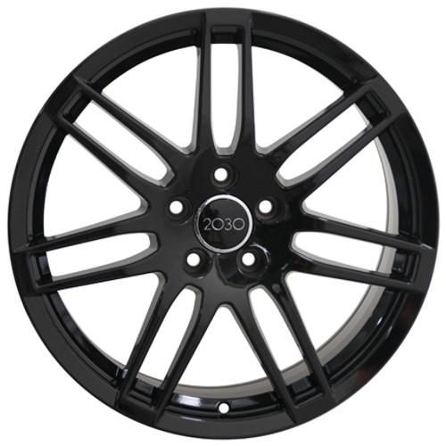 18 Fits Audi Rs4 Wheel Gloss Black Set Of 4 18x8 Rims