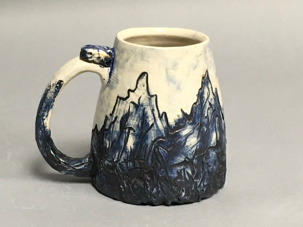 Blue Mountain Mug, roughly 20 Ounce Size (SK772)