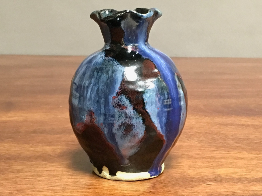 Cosmic Vase, roughly 5 inches tall, Inspired by a Planetary Nebula (SK435)