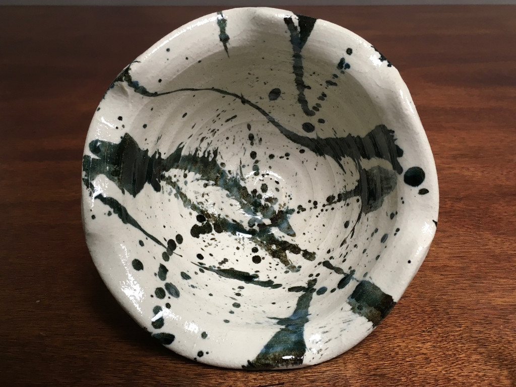 Experimental Bowl, roughly 6 inches wide by 3.5 inches tall, (SK2757)