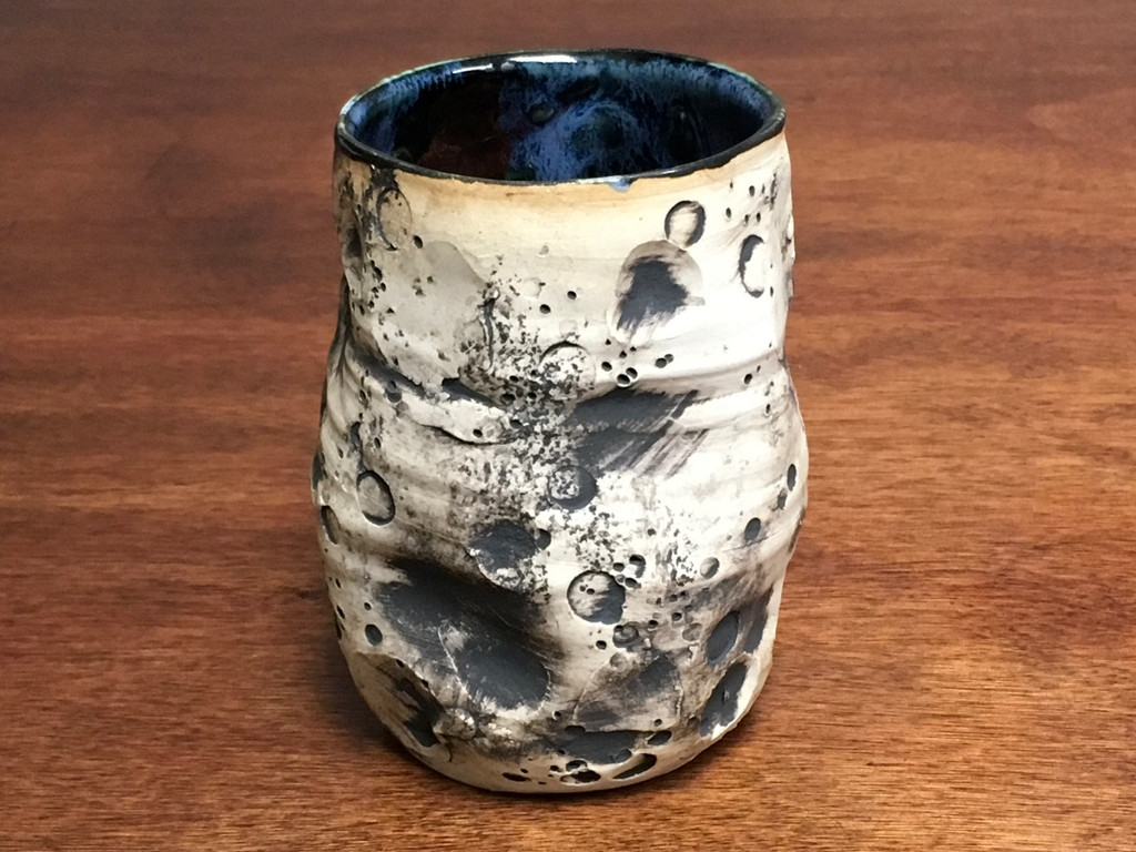 """Lunar/Moon Cup, roughly 10-12oz size, Inspired by a """"Planetary Nebula"""" (SK3054)"""