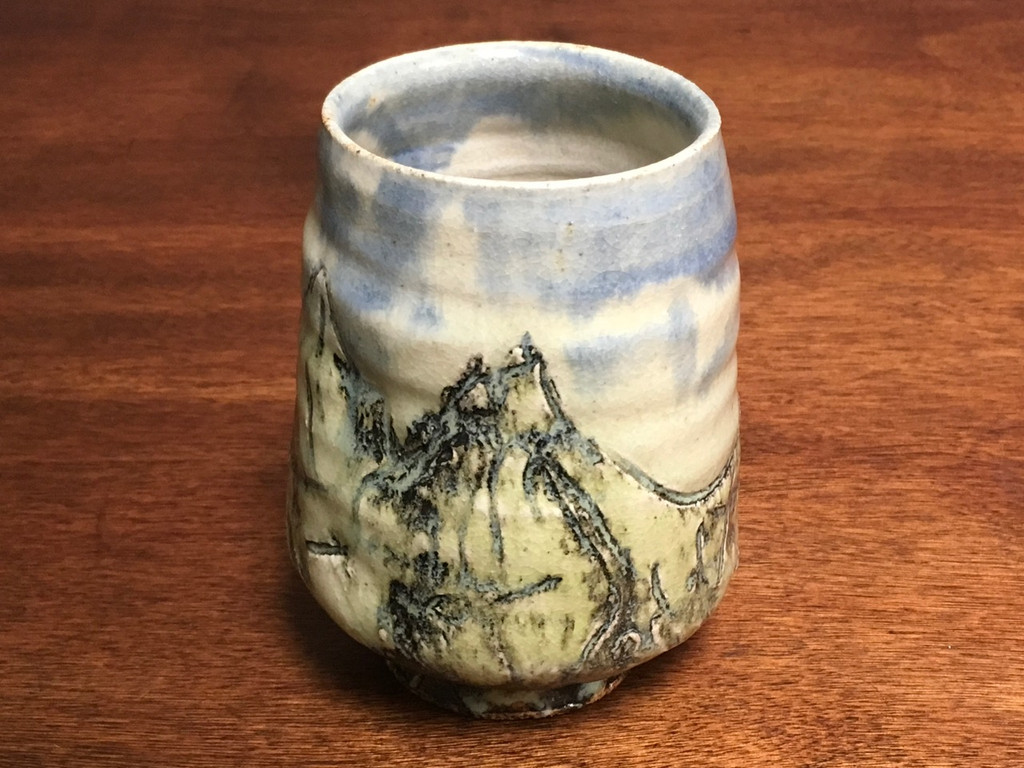 Serene Mountain Cup, roughly 12 Ounce Size (SK3396)