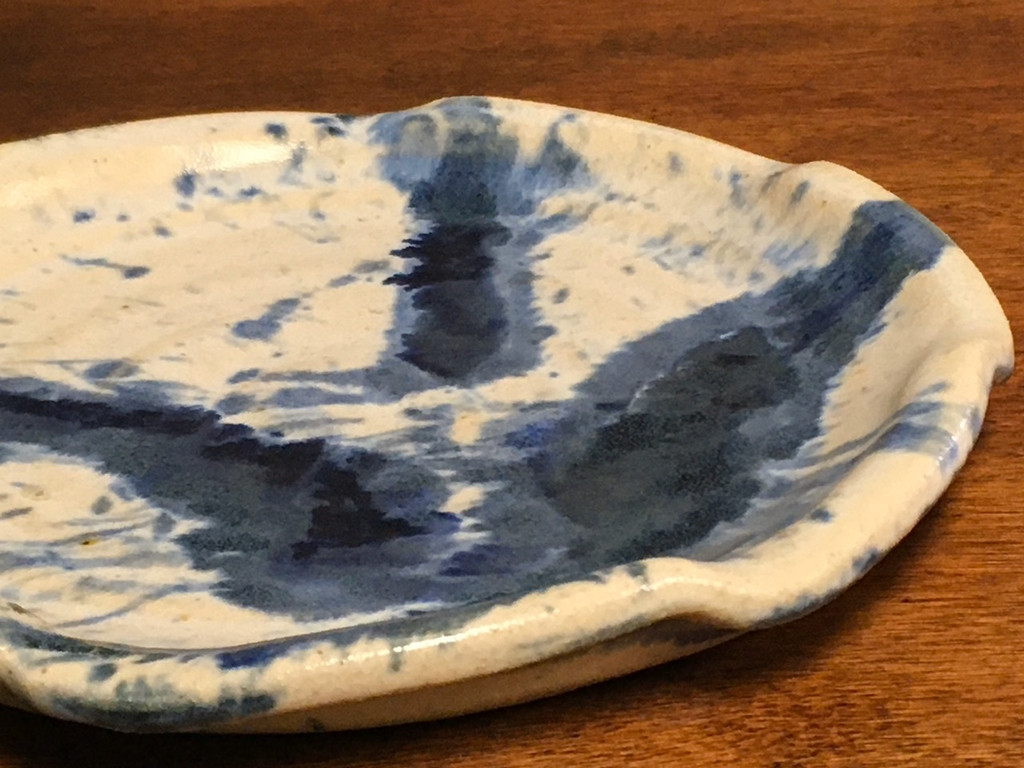 Experimental Salad Plate, roughly 8 inches wide (SK3665)