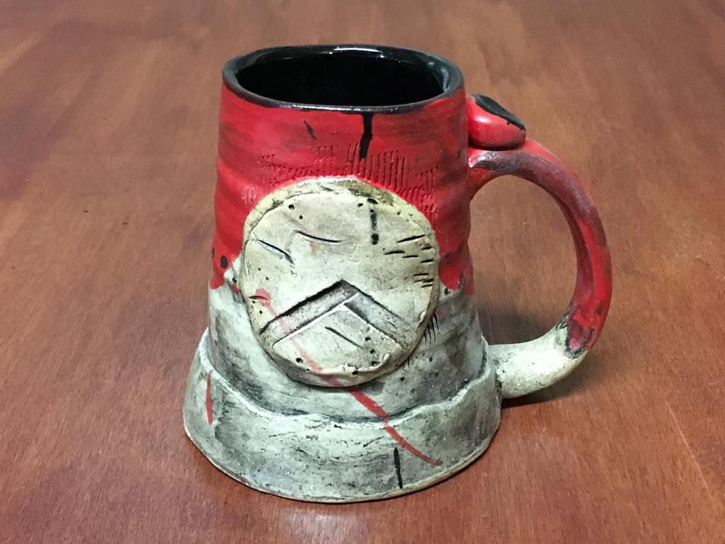 'Kothon' Spartan Mug, roughly 14-16 ounce size (SK4608)