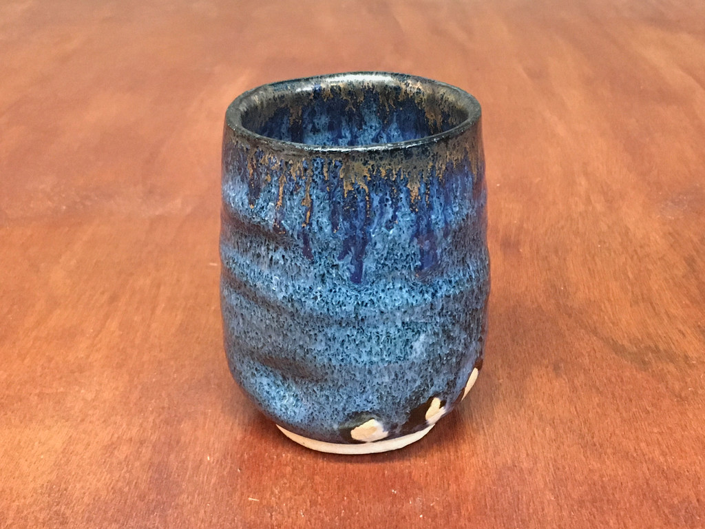 Nuka Cobalt Cup with Cobalt Drips, roughly 10-12 ounce size (SK4896)